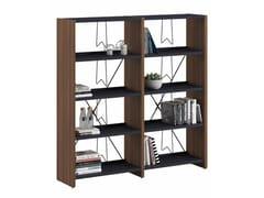 Libreria a parete autoportante in melamina e metalloLIBRO - ERSA MOBILYA