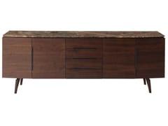 Madia con ante e cassetti in legno e piano in marmoLIETO   Madia - ROCHE BOBOIS