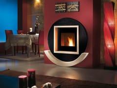 Caminetto a legna incassato in metalloLIGHT 01 INDIA - CAMINETTI MONTEGRAPPA