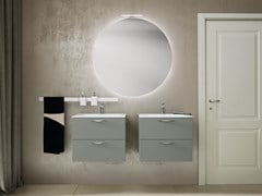 Mobile lavabo laccato sospeso con cassettiLIGHT 03 - ARCHEDA