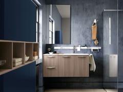 Mobile lavabo laccato singolo sospesoLIGHT 04 - ARCHEDA