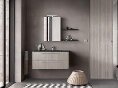 Mobile lavabo singolo sospeso con specchioLIGHT 07 - ARCHEDA