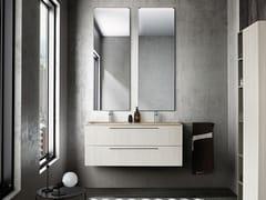 Mobile lavabo doppio sospeso con cassettiLIGHT 09 - ARCHEDA