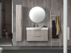 Mobile lavabo singolo sospeso con cassettiLIGHT 10 - ARCHEDA