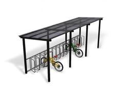 Pensilina in metallo per biciclette e motoriniLIGHT - EUROFORM K. WINKLER
