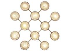 Lampada da parete / lampada da soffitto in vetro soffiato LIILA 12 OPTIC - Liila