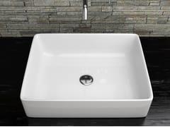 Lavabo da appoggio rettangolare in ceramica TOKIO | Lavabo da appoggio - Lavabi d'arredo