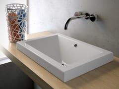 Lavabo da incasso soprapiano rettangolare in ceramica LAVABI D'ARREDO | Lavabo rettangolare - Lavabi d'arredo