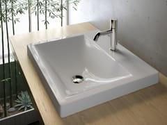 Lavabo da incasso soprapiano rettangolare in ceramica in stile moderno LAVABI D'ARREDO | Lavabo da incasso soprapiano - Lavabi d'arredo