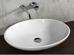 Lavabo da appoggio ovale in ceramica LAVABI D'ARREDO | Lavabo in ceramica - Lavabi d'arredo
