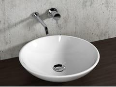 Lavabo da appoggio rotondo in ceramica LAVABI D'ARREDO | Lavabo da appoggio - Lavabi d'arredo