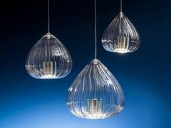 Lampada a sospensione a LED fatta a mano in vetro borosilicatoLILIUM XL - ALBUM ITALIA