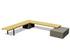 Panchina in legno senza schienaleLINEA 381 - EUROFORM K. WINKLER