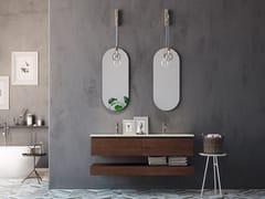 Mobile lavabo doppio sospeso in rovere con cassettiLINEA LN02 - ARTEBA