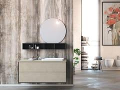 Mobile lavabo laccato sospeso in legno con specchioLINEA LN03 - ARTEBA