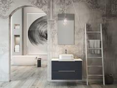 Mobile lavabo laccato sospeso in legno con cassettiLINEA LN04 - ARTEBA
