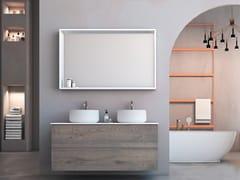 Mobile lavabo doppio sospeso in rovere con cassettiLINEA LN06 - ARTEBA