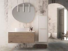 Mobile lavabo singolo sospeso in rovere con cassettiLINEA LN08 - ARTEBA