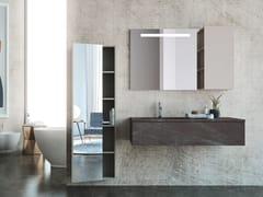 Mobile lavabo laccato sospeso in legno con cassettiLINEA LN09 - ARTEBA