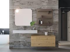 Mobile lavabo singolo sospeso in rovere con cassettiLINEA LN10 - ARTEBA