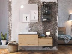 Mobile lavabo singolo sospeso in rovere con cassettiLINEA LN11 - ARTEBA