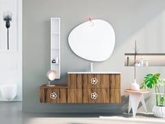 Mobile lavabo singolo sospeso in rovere con cassettiLINEA LN12 - ARTEBA
