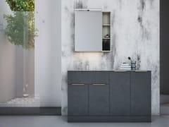 Mobile lavabo da terra laccato in legno con anteLINEA LN13 - ARTEBA