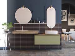 Mobile lavabo doppio sospeso con cassettiLINEA LN14 - ARTEBA