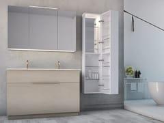 Mobile lavabo doppio laccato in legno con cassettiLINEA LN18 - ARTEBA