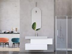 Mobile lavabo laccato sospeso in legno con cassettiLINEA LN19 - ARTEBA