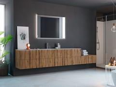 Mobile lavabo singolo sospeso in rovere con cassettiLINEA LN20 - ARTEBA
