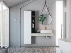 Mobile lavabo laccato singolo sospeso in legnoLINEA LN21 - ARTEBA