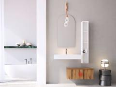 Mobile lavabo singolo sospeso in rovere con cassettiLINEA LN22 - ARTEBA