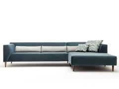 Divano componibile in tessuto con chaise longue LINEA | Divano con chaise longue - Linea