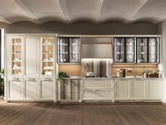 Cucina componibile lineare in legnoPORTRAIT   Cucina lineare - ASTER CUCINE S.P.A.