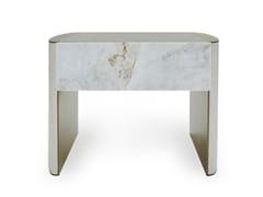 Comodino rettangolare in marmo con cassettiLINFA | Comodino - CORNELIO CAPPELLINI