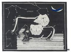 Tappeto fatto a mano rettangolare LIONS AT NIGHT - Signature