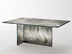 Tavolo rettangolare in cristalloLIQUEFY | Tavolo rettangolare - GLAS ITALIA