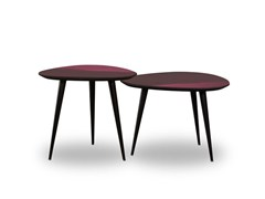 Tavolino laccato triangolare LIQUID COFFEE | Tavolino triangolare - Liquid