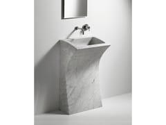 Lavabo freestanding rettangolare in marmo LITO 3 - Lito