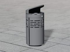 Portarifiuti in acciaio inox con coperchio per esterniLITTER BIN 1210 | Portarifiuti con coperchio - BENKERT BÄNKE