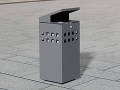 Portarifiuti in acciaio inox con coperchio per esterniLITTER BIN 1310 | Portarifiuti con coperchio - BENKERT BÄNKE