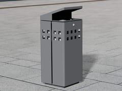 Portarifiuti in acciaio inox con coperchio per esterniLITTER BIN 1320 | Portarifiuti con coperchio - BENKERT BÄNKE