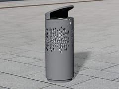 Portarifiuti in acciaio inox con coperchio per esterniLITTER BIN 1420 | Portarifiuti con coperchio - BENKERT BÄNKE