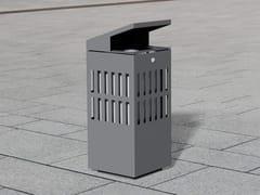 Portarifiuti in acciaio inox con coperchio per esterniLITTER BIN 1510 | Portarifiuti con coperchio - BENKERT BÄNKE