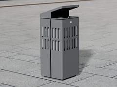Portarifiuti in acciaio inox con coperchio per esterniLITTER BIN 1520 | Portarifiuti con coperchio - BENKERT BÄNKE