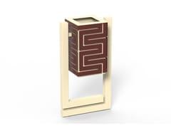 Portarifiuti in acciaio zincato per esterniSNAKE | Portarifiuti - DIMCAR