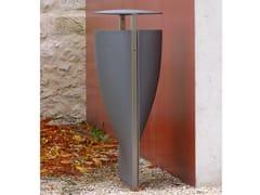 Portarifiuti in alluminio con coperchio per esterniFONTANA | Portarifiuti con coperchio - URBIDERMIS