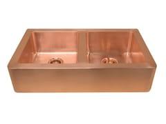 Lavello a 2 vasche in rameLIVIA | Lavello a 2 vasche - BLEU PROVENCE
