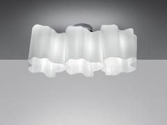 Lampada da soffitto alogena in vetro soffiato LOGICO 3 | Lampada da soffitto - Logico